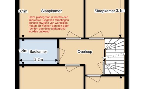 1eVD plattegrond